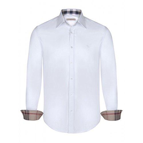 BURBERRY Camicia Uomo Manica Lunga Colore Bianco (XXL)