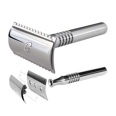 Goodfella Open Comb Safety Razor in Chrome