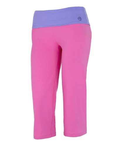 Zumba Fitness Flash Flare Capris (XX-Large, Berry Pink)
