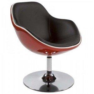 """Paris Prix-Silla Design """"Moon rojo y negro"""