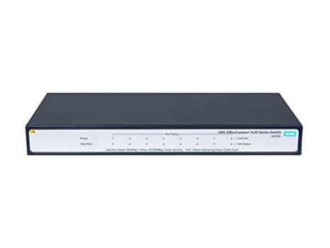 JH330A - HPE 1420 8G POE+ (64W) SWITCH OfficeConnect 1420 8G PoE+ (64W) Switch