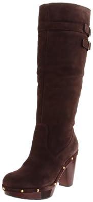 Rockport Women's Katja High Shearling Boot Dark Brown Pull On Boot K59103 8 UK