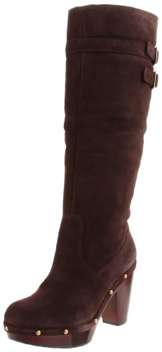 Rockport Women's Katja High Shearling Boot Dark Brown Pull On Boot K59103 7 UK