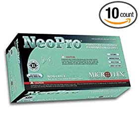 Microflex NPG-888-XL NeoPro Chloroprene Exam Glove, XLarge, 100 Pieces per Box (Pack of 10)