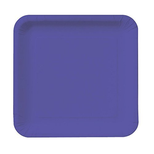 7 inch Square Paper Lunch Plates Purple 180 Ct