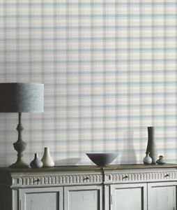 Kitty Check Wallpaper - Duck Egg from New A-Brend