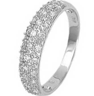.925 Sterling Silver half Eternity Pave Ring