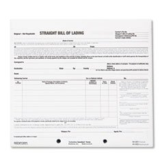 ** Bill of Lading Short Form, 8 1/2 x 7, Three-Part Carbonless, 250 Forms **