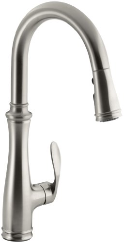 Lowest Price! Kohler K-560-VS Bellera Pull-Down Kitchen Faucet, Vibrant Stainless Steel