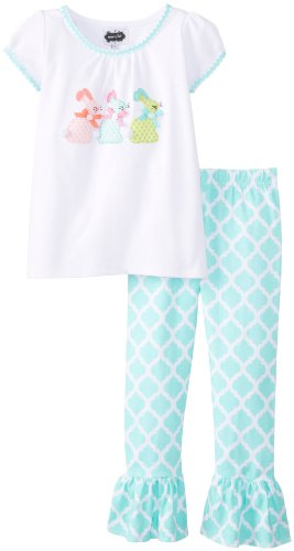 Mud Pie Little Girls' Bunny Tunic and Legging Set