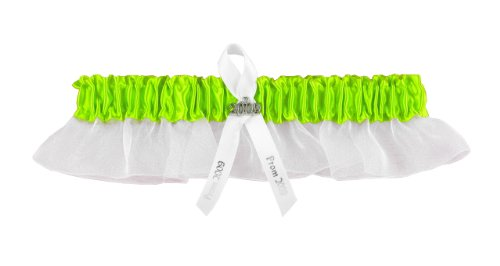 Hortense B. Hewitt Wedding Accessories 2012 Prom Garter, Lime Green front-1001268