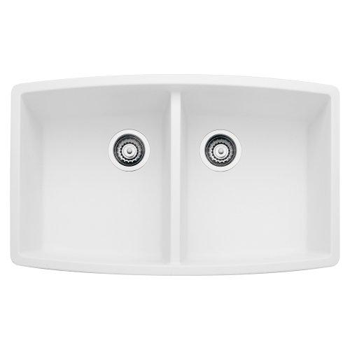 Blanco 440071 performa silgranit ii double bowl sink white for Silgranit ii sinks