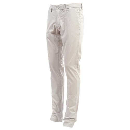 Teddy smith-Pantaloni slim Chino-Pantaloni da donna, colore: grigio grigio 30