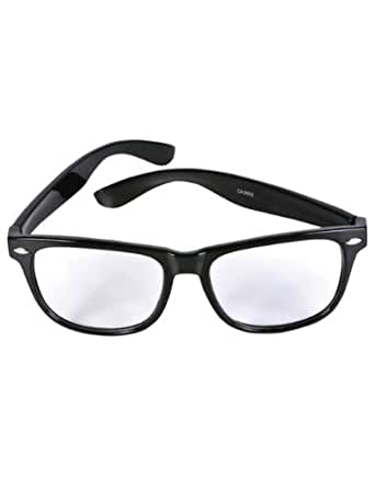 Nerd Glasses Buddy Wayfarer Black Frame Clear Lens