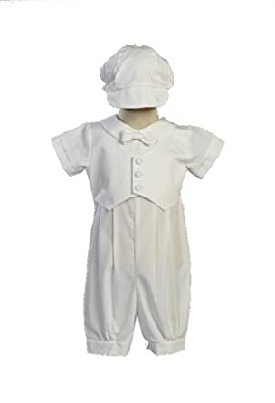 6baed1ee13545 Boy s Poly Cotton Christening Baptism Romper with Pique Vest · view  recommendations for this product. This does run a little small so if you  are concerned ...