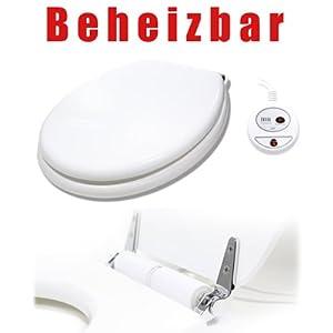 beheizbarer toilettensitz mit absenkautomatik klodeckel wc. Black Bedroom Furniture Sets. Home Design Ideas