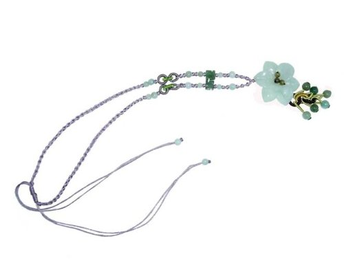 Apple Blossom Jade Necklace Blossom Elegantly, This Flower Glows with the Sparkling Center From the Radiant Color Jade Beads