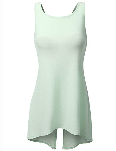 J.Tomson Womens High-Low Tank Top Mint Medium