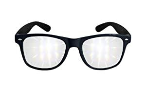 Diffraction Glasses - High Quality Effect - Rave Accessories - Black by 3Dstereo Glasses
