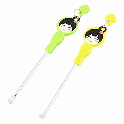 Move&Moving(TM) Cartoon Girl Pattern Earpick Earwax Ear Wax Remover Ears Care Tool 2 Pcs