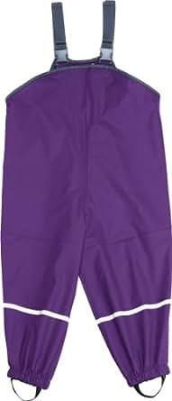 Playshoes Unisex - Kinder Latzhose 405424 - Regenlatzhose, Gr. 98, Violett (19 lila)