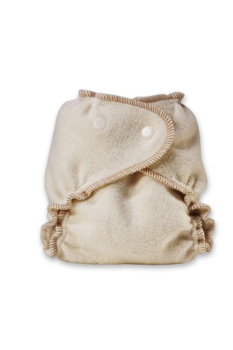 Kissaluvs Organic Cotton/Hemp Fitted Diaper, Unbleached, Medium/Large 15-40Lbs front-414460