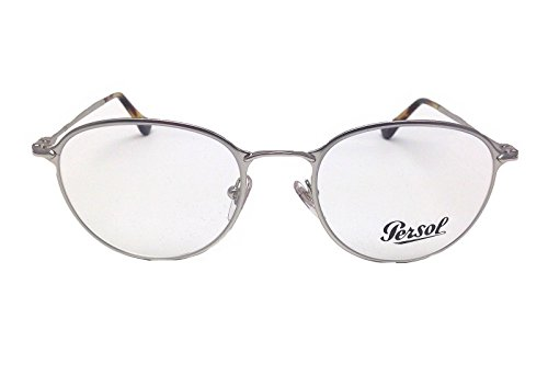 New Persol PO2426V 1051 Silver / Demo Lens 50mm Eyeglasses