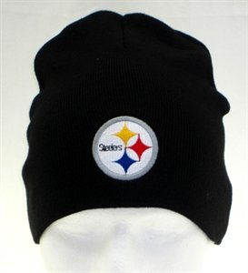 Pittsburgh Steelers Black Winter Knit Cap (Un-Cuffed)