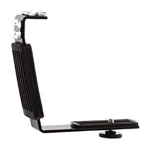 Adorama Heavy Duty L-bracket with 2 Standard Flash Shoe Mounts