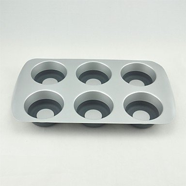 POP PAN Metal with Silicone Parts Non Stick And Easy Release 6 Cups Muffin Pan