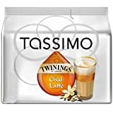 Orignal Tassimo Refill T DISCS / Pods Coffee - Many Flavours To Choose From (8 TWININGS CHAI LATTE)