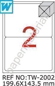 tanex-tw-2002-pays-dexpedition-dhl-hermes-paketetiketten-blanc-1996-x-1435-mm-abgerundet-lot-de-100-