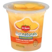 Fruit Naturals No Sugar Added Peach Chunk, 6.5 Ounce -- 12 per case. (Del Monte Fruit Naturals compare prices)
