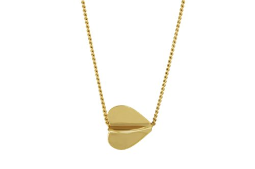 Oak Fine Jewellery My Heart Spins 18ct Gold Vermeil Pendant on an 18 Inch Chain
