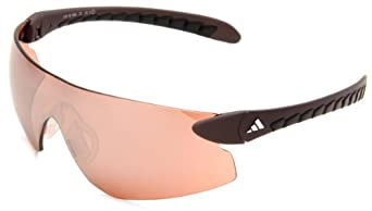 adidas T-sight L a154-6060 Rectangle Sunglasses,Matte Copper Frame/LST Active Silver Lens,One Size