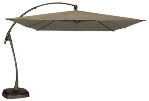 A COOL Picture Of Swim Time Seabrooke Square Cantilever Umbrella With Base  In Sand Ou0027Bravia, 10 Feet