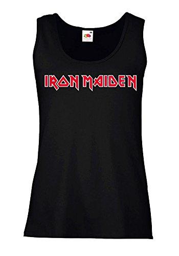 """Canotta Donna """"Iron Maiden"""" - 100% cotone LaMAGLIERIA, M, Nero"""