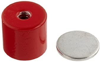"Cast Alnico 5 Assembly With Keeper, 13/16"" Diameter, 3/4"" Thick, 1/4""-20 Threaded Mounting Hole (Pack of 1)"