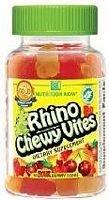 Nutrition Now Rhino Gummy Bear Multi-Vitamins Sour Strawberry Sour Lemon Sour Cherry Sour Orange -- ( Multi-Pack)