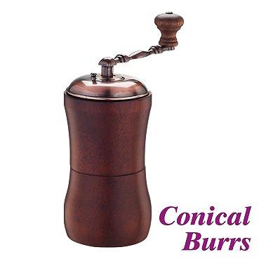 Cafe de Tiamo Hand Coffee Grinder Cast Iron Conical Burr Skerton (HG6034)