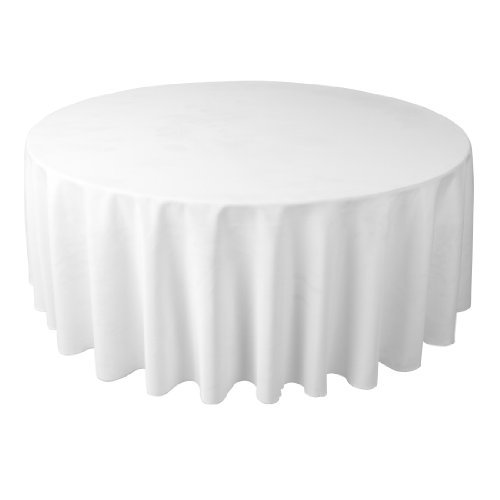 Linentablecloth 108-Inch Round Polyester Tablecloth White front-504067