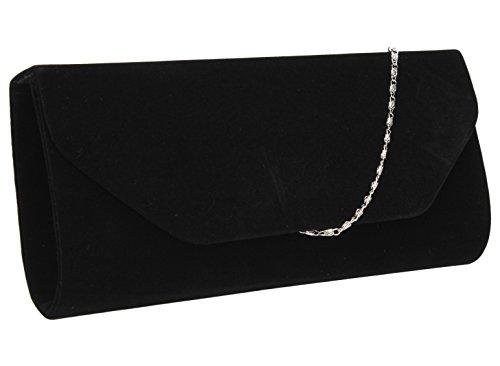 Isabella Velvet Womens Half Envelope Style Clutch