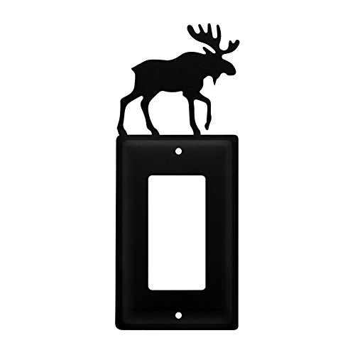 Iron Moose Single Modern Switch Cover - Black Metal
