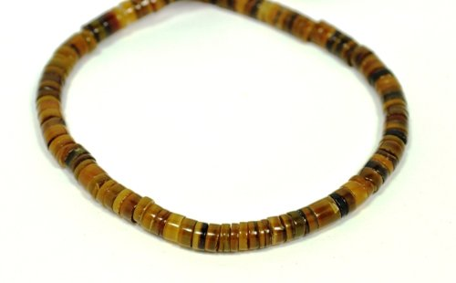 20-inch Brown Penshell Choker Surfer Necklace