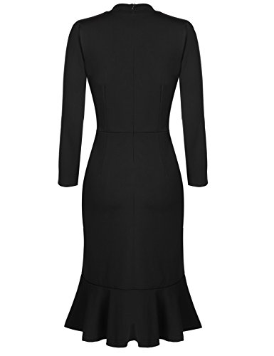 ACEVOG Women's Vintage 50s Elegant Bodycon Formal Casual Party Pencil Dress 1