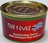 Fish 4 Ever Tinned Wild Alaskan Red Salmon 213g