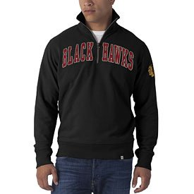 NHL Chicago Blackhawks Mens Striker 1 4 Zip Pullover Jacket by