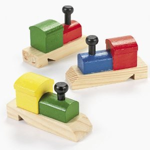 Learn More About Wooden Painted Train-Shaped Whistles (1 dz)