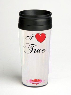16 oz. Double Wall Insulated Tumbler with I Love True - Paper Insert