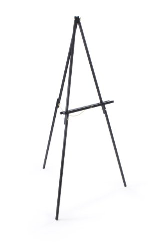 Wooden, 59.5 inch tall Foor-Standing Art Easel for Displaying Artwork - Black